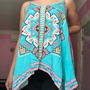Long Blouse Tank with Patterns